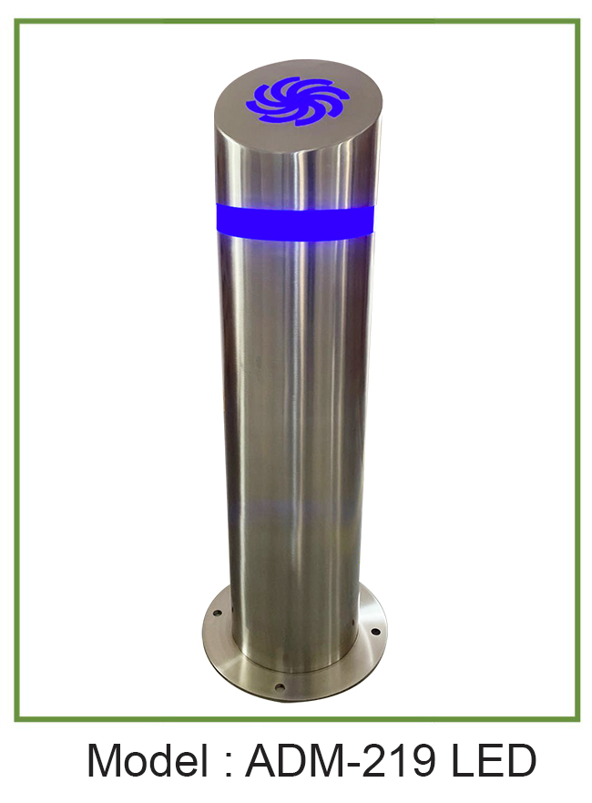 Stainless Bollards with customized logo