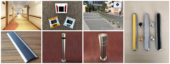 eleazar products bollards stairnoses tactile traffic road safety products